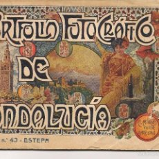 Libros antiguos: PORTFOLIO FOTOGRÁFICO DE ANDALUCÍA. Nº 43. ESTEPA (SEVILLA). A.MARTÍN EDITOR.(C/S). Lote 56022415
