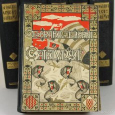 Libros antiguos: 7371 - GEOGRAFIA GENERAL DE CATALUNYA. 6 TOMOS(VER DESCRIP). EDI. ALBERT MARTÍN. S/F.. Lote 56148541