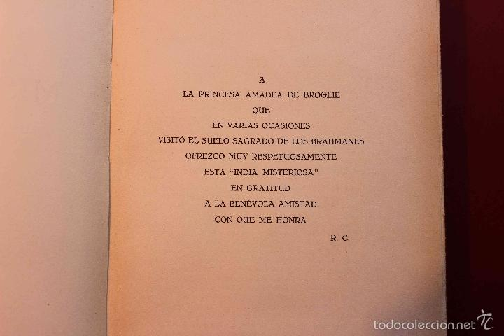 Libros antiguos: La India Misteriosa. Robert Chauvelot. Ed. Iberia. Primera Edición. 1929. - Foto 4 - 56490204