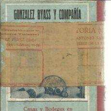 Libros antiguos: GUÍA OFICIAL DE JEREZ. VIUDA E HIJOS DE D. CAMPOY. JEREZ DE LA FRONTERA CÁDIZ. 1930. Lote 150972482