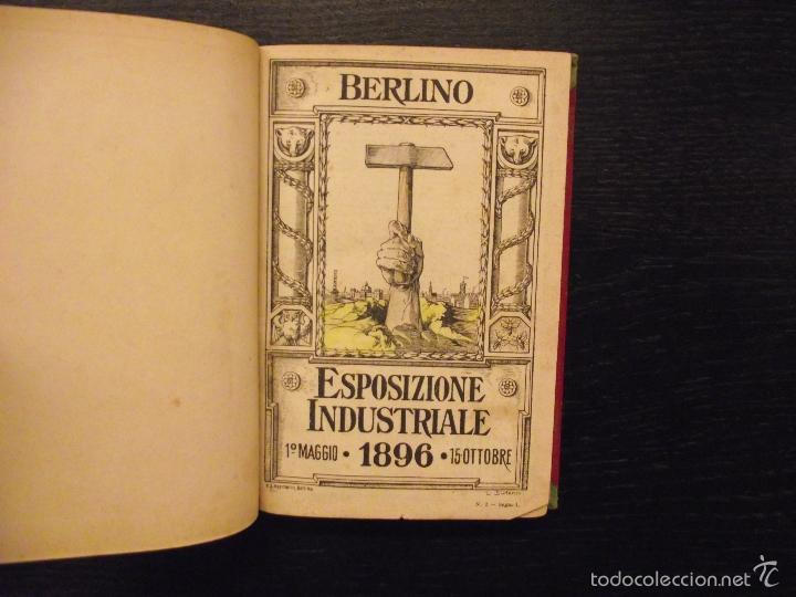 EXPOSICION INDUSTRIAL BERLIN 1896, ESPOSIZIONE INDUSTRIALE BERLINO (Libros Antiguos, Raros y Curiosos - Geografía y Viajes)