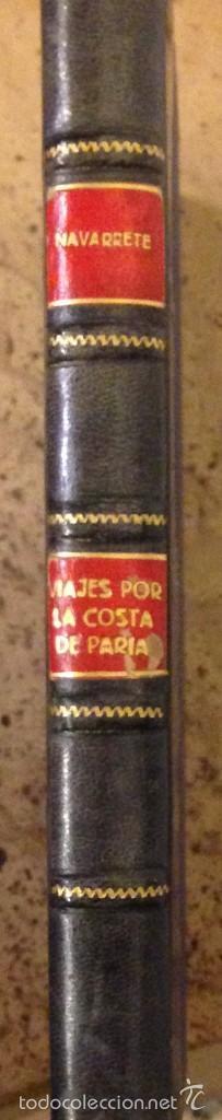 VIAJES DE LOS ESPAÑOLES POR LA COSTA DE PARIA, FERNANDEZ DE NAVARRETE (Libros Antiguos, Raros y Curiosos - Geografía y Viajes)