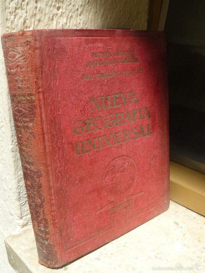 Libros antiguos: NUEVA GEOGRAFIA UNIVERSAL - ESPASA CALPE - 1928 - TOMO I - LIBRO GRANDE - Foto 2 - 57340938