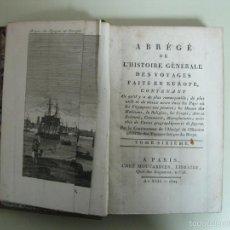 Libros antiguos: HISTOIRE GÉNÉRALE DES VOYAGES FAITS EN EUROPA. TOMO VI. LA HARPE, 1804. BELLO FRONTISPICIO. Lote 57496735