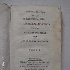 Libros antiguos: HISTORIA ESTABLECIMIENTOS ULTRAMARINOS-MALO DE LUQUE -MADRID 1784-2 VOL-7 MAPAS- VER FOTOS - (XL-43). Lote 57735780