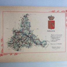 Libros antiguos: 1910-ZARAGOZA.MAPA PROVINCIA.16 FOTOS.PORFOLIO FOTOGRÁFICO ESPAÑA.ORIGINAL. Lote 57931281