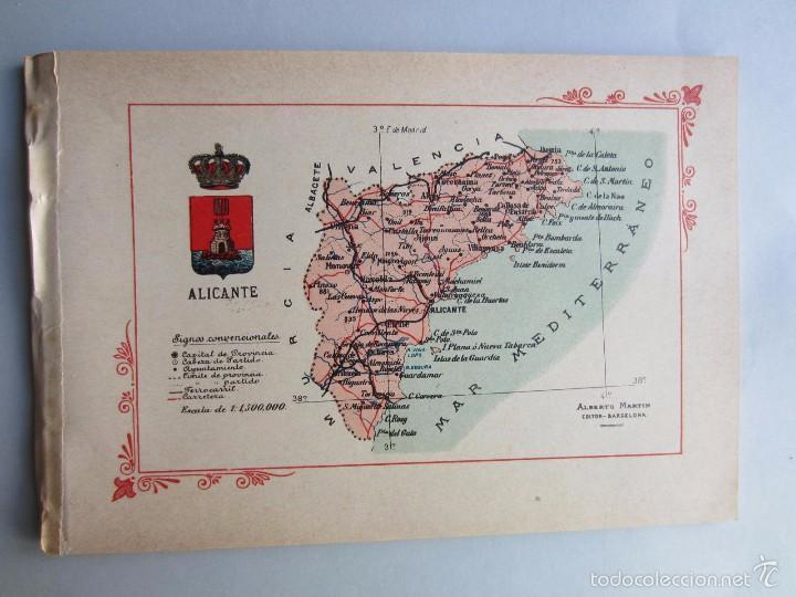 Mapa Provincia De Alicante.1910 Alicante Mapa Provincia 16 Fotos Porfolio Fotografico Espana Original