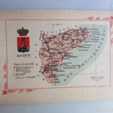 Libros antiguos: 1910-ALICANTE.MAPA PROVINCIA.16 FOTOS.PORFOLIO FOTOGRÁFICO ESPAÑA.ORIGINAL. Lote 57931292