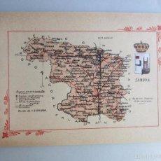 Libros antiguos: 1910-ZAMORA.MAPA PROVINCIA.16 FOTOS.PORFOLIO FOTOGRÁFICO ESPAÑA.ORIGINAL. Lote 57931306