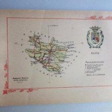Libros antiguos: 1910- ALAVA. MAPA PROVINCIA. 16 FOTOS.PORFOLIO FOTOGRÁFICO ESPAÑA. ORIGINAL. Lote 57931390