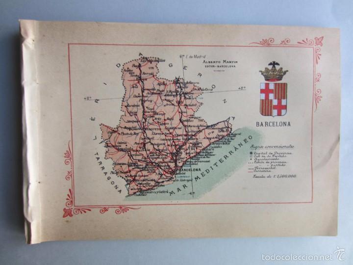 1910- BARCELONA. MAPA PROVINCIA. 16 FOTOS.PORFOLIO FOTOGRÁFICO ESPAÑA. ORIGINAL (Libros Antiguos, Raros y Curiosos - Geografía y Viajes)