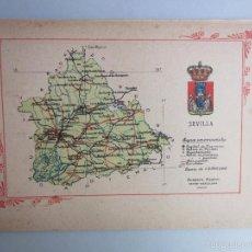 Libros antiguos: 1910- SEVILLA. MAPA PROVINCIA. 16 FOTOS.PORFOLIO FOTOGRÁFICO ESPAÑA. ORIGINAL. Lote 57947673
