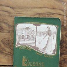 Libros antiguos: LUCERNE. LE LAC DES QUATRE-CANTONS ET LEURS ENVIRONS. 1902. GUÍA CON MAPAS.. Lote 58189238