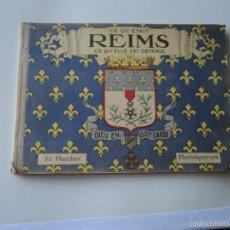 Libros antiguos: LIBRO 32 PLANCHAS CATEDRAL DE REIMS, COMO ERA ANTES Y DESPUES DE LA GUERRA. Lote 58204132