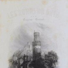 Libros antiguos: LES BORDS DU RHIN PAR EUGÈNE GUINOT. PARIS, HACIA 1860.. Lote 58253928