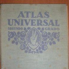 Libros antiguos: ATLAS UNIVERSAL. SEGUNDO GRADO. EDITORIAL LUIS VIVES, S.A. AÑO 1935. ESPECIAL ESPAÑA Y PORTUGAL.. Lote 58849696