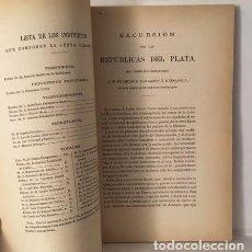 Libros antiguos: CARRASCO Y GUISASOLA, F. (CAPITÁN DE FRAGATA) EXCURSIÓN POR LAS REPÚBLICAS DEL PLATA. (1879) . Lote 64158371