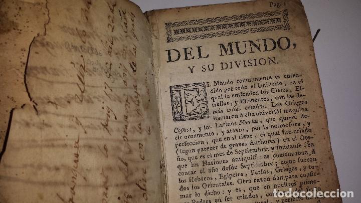 Libros antiguos: DEL MUNDO Y SU DIVISION 1782 - Foto 2 - 67335629
