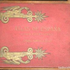 Libros antiguos: 8230 - ATLAS DE ESPAÑA Y SUS POSESIONES. (BAILLY-BAILLIÈRE=RIERA). SIGLO XX.. Lote 68195825