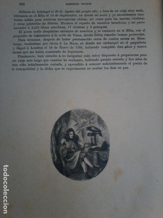 Libros antiguos: LAS AVENTURAS DE ROBINSON CRUSOE - DANIEL DE FOE - 1910 - - Foto 4 - 71398115