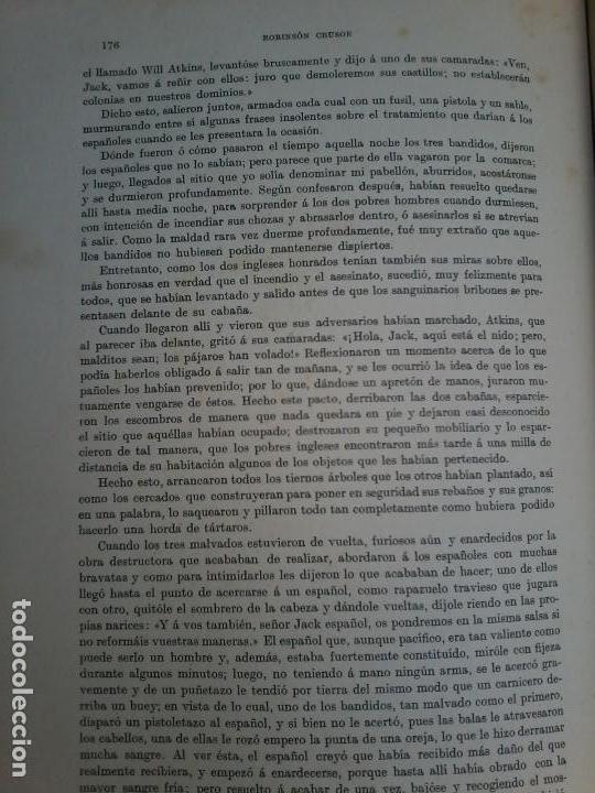 Libros antiguos: LAS AVENTURAS DE ROBINSON CRUSOE - DANIEL DE FOE - 1910 - - Foto 5 - 71398115