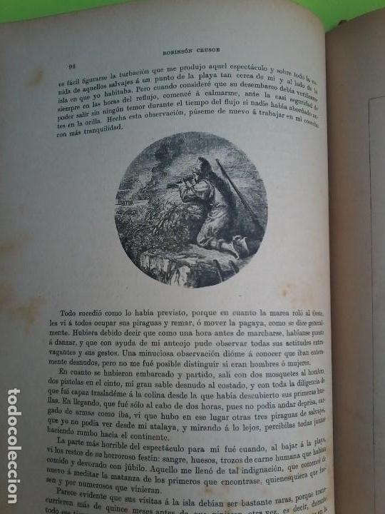 Libros antiguos: LAS AVENTURAS DE ROBINSON CRUSOE - DANIEL DE FOE - 1910 - - Foto 8 - 71398115