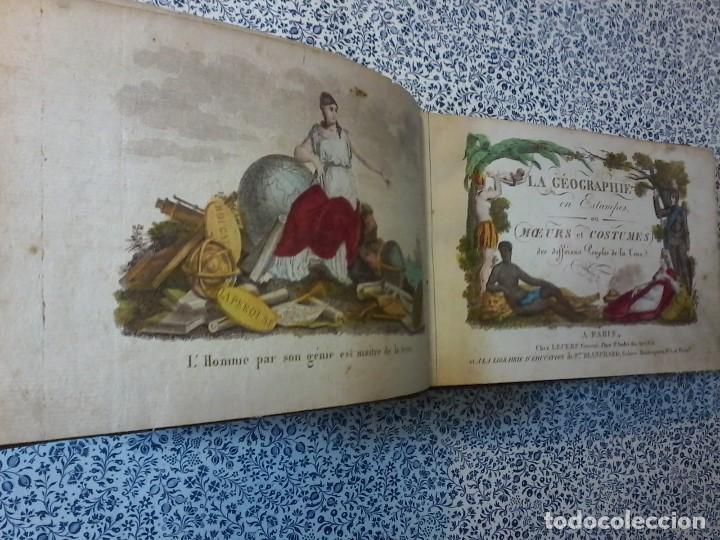 LA GEOGRAPHIE EN STAMPES OU MOEURS ET COSTUMES - 1819 - GRABADOS - LAMINAS - (Libros Antiguos, Raros y Curiosos - Geografía y Viajes)
