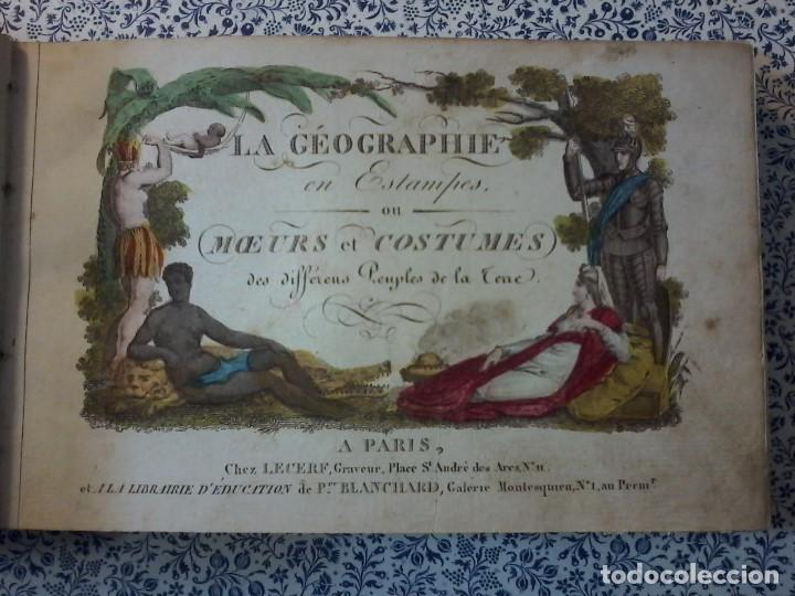 Libros antiguos: LA GEOGRAPHIE EN STAMPES OU MOEURS ET COSTUMES - 1819 - GRABADOS - LAMINAS - - Foto 7 - 74351175
