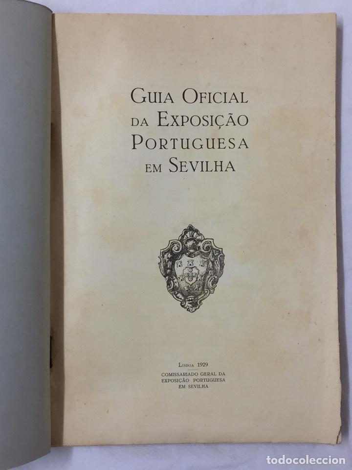 Libros antiguos: GUIA OFICIAL EXPOSICION PORTUGUESA SEVILLA 1929 PORTUGAL SEVILHA - Foto 4 - 75118434
