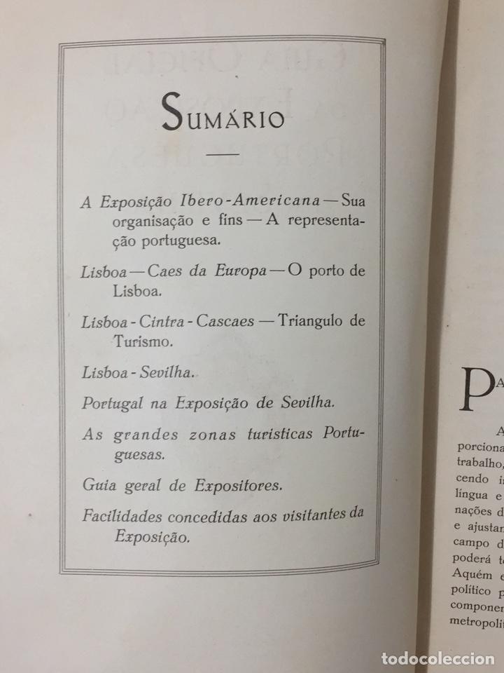 Libros antiguos: GUIA OFICIAL EXPOSICION PORTUGUESA SEVILLA 1929 PORTUGAL SEVILHA - Foto 5 - 75118434