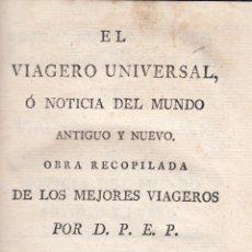 Libros antiguos: D. P. E. P. EL VIAGERO UNIVERSAL. PIURA, BRASIL, ORINOCO....TOMO XXI. MADRID, 1798.. Lote 75408251