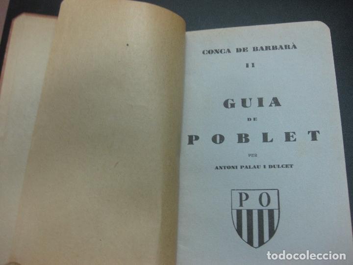 Libros antiguos: GUIA DE POBLET. ANTONI PALAU I DUCET. IMPREMTA ROMANA 1931. - Foto 2 - 75694391