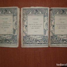 Libros antiguos: VIAJE HACIA EL POLO SUR Y ALREDEDOR DEL MUNDO. COMPLETO 3 TOMOS. 1ª EDICION 1921-1922 COOK JAMES. Lote 76531219