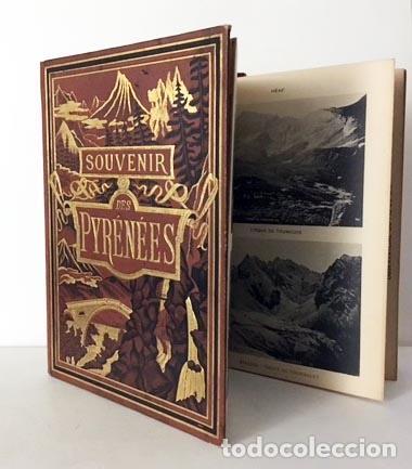 SOUVENIR DES PYRÉNÉES (C1890) ALBUM CARTONÉ DECORADO CON 16 FOTOTIPIAS DE LOS PIRINEOS S XIX (Libros Antiguos, Raros y Curiosos - Geografía y Viajes)