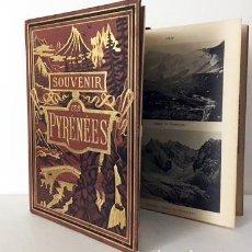 Libros antiguos: SOUVENIR DES PYRÉNÉES (C1890) ALBUM CARTONÉ DECORADO CON 16 FOTOTIPIAS DE LOS PIRINEOS S XIX. Lote 80977340
