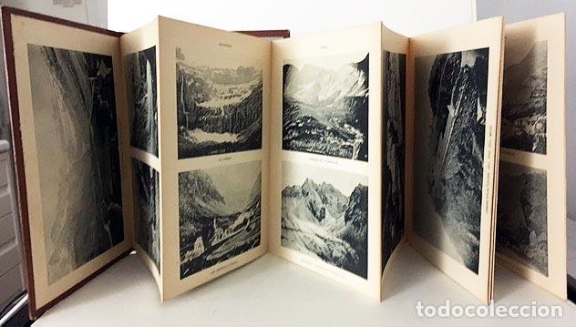 Libros antiguos: Souvenir des Pyrénées (c1890) Album cartoné decorado con 16 fototipias de los Pirineos s XIX - Foto 2 - 80977340