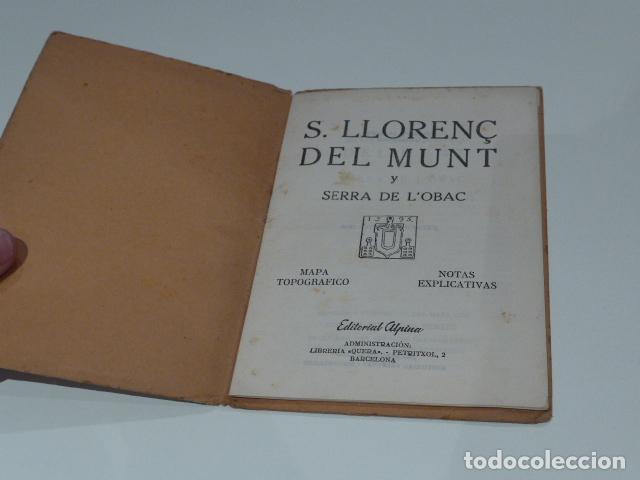 Libros antiguos: Antiguo librito de excursionista de sant llorenç del munt, serra obac. editorial alpina. - Foto 2 - 208312788