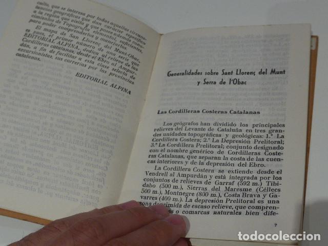 Libros antiguos: Antiguo librito de excursionista de sant llorenç del munt, serra obac. editorial alpina. - Foto 4 - 208312788