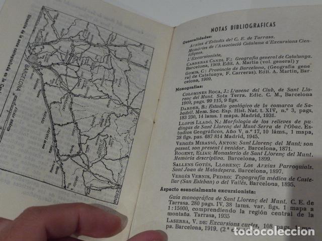 Libros antiguos: Antiguo librito de excursionista de sant llorenç del munt, serra obac. editorial alpina. - Foto 5 - 208312788