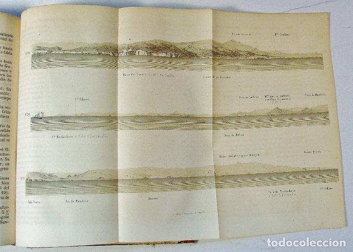 Libros antiguos: DERROTERO DE LA COSTA SEPTENTRIONAL DE ESPAÑA. PARTE PRIMERA. AÑO 1860. DE CORUÑA A GIJÓN. - Foto 5 - 86018052