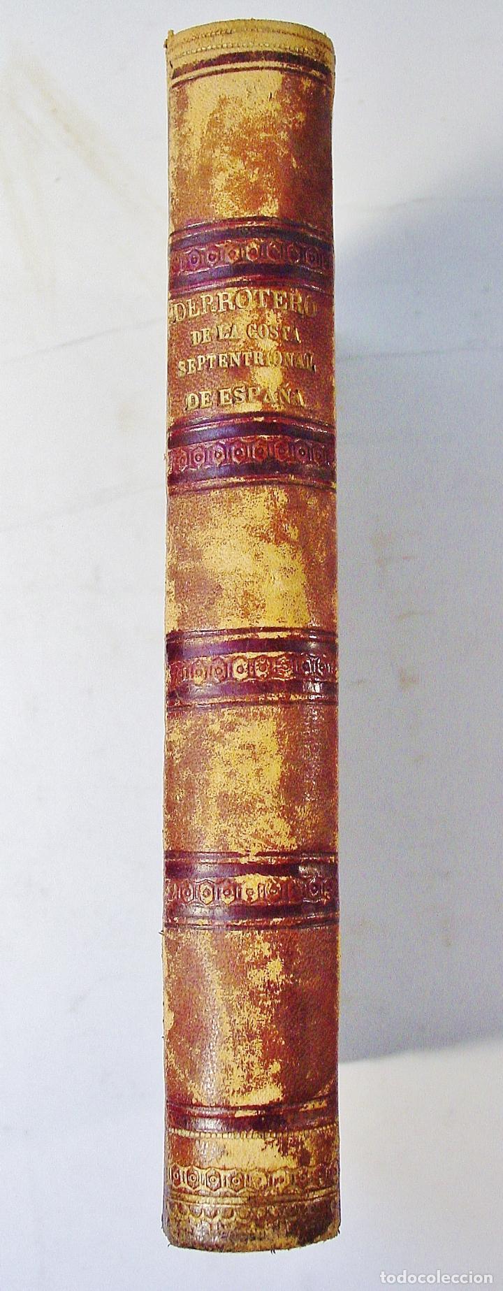 Libros antiguos: DERROTERO DE LA COSTA SEPTENTRIONAL DE ESPAÑA. PARTE PRIMERA. AÑO 1860. DE CORUÑA A GIJÓN. - Foto 6 - 86018052