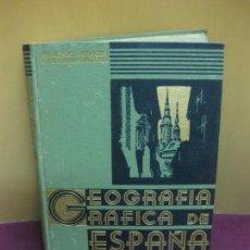 Libros antiguos: GEOGRAFIA GRAFICA DE ESPAÑA. ANTONIO DE CARCER DE MONTALBAN. EDICIONES HYMSA.. Lote 86022604