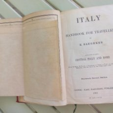 Libros antiguos: CENTRAL ITALY BAEDEKE'S 1900 HANDBOOK FOR TRAVELLERS. KARL BAEDEKER. GUIA ITALIA PARA VIAJEROS . Lote 86587964
