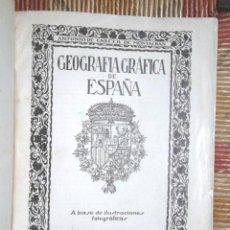 Libros antiguos: GEOGRAFIA GRÁFICA DE ESPAÑA A BASE DE ILUSTRACIONES FOTOGRÁFICAS ANTONIO DE CARCER BON ESTAT . Lote 87085976