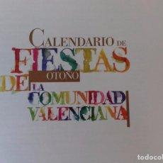 Libros antiguos: CALENDARIO FIESTAS DE OTOÑO COMUNIDAD VALENCIANA-BANCAJA-. Lote 89228248