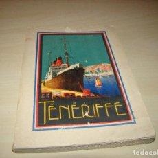 Libros antiguos: GUÍA DE TENERIFE - 1927. Lote 90585940