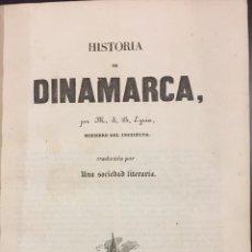 Libros antiguos: M.J. EYRIES . HISTORIA DE DINAMARCA. PANORAMA UNIVERSAL. Lote 76226539