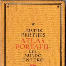 Libros antiguos: JUSTUS PERTHES : ATLAS PORTÁTIL DEL MUNDO ENTERO 1925. Lote 93098695