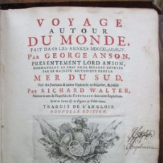 Libros antiguos: VOYAGE AUTOUR DU MONDE FAIT DANS LES ANNE'ES MDCCXL, I,II,II,IV. GEORGE ANSON. 1751.. Lote 93339900