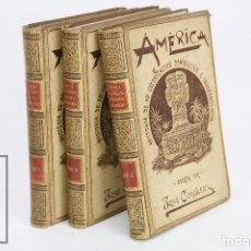 Libros antiguos: 3 LIBROS ILUSTRADOS, T. 1 AL 3 - AMÉRICA. HISTORIA DE COLONIZACIÓN. COROLEU - MONTANER Y SIMÓN, 1894. Lote 95343807
